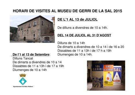 horari visites museu de gerri 2015